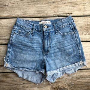 Hollister High waisted denim shorts